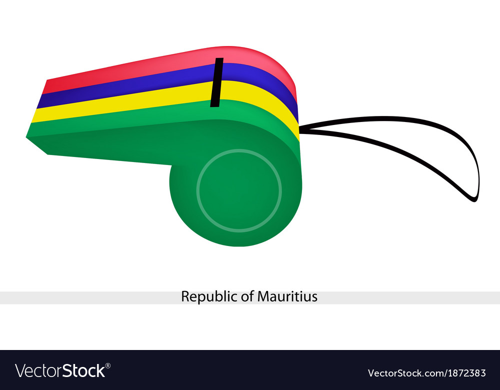 A whistle of the republic of mauritius vector | Price: 1 Credit (USD $1)