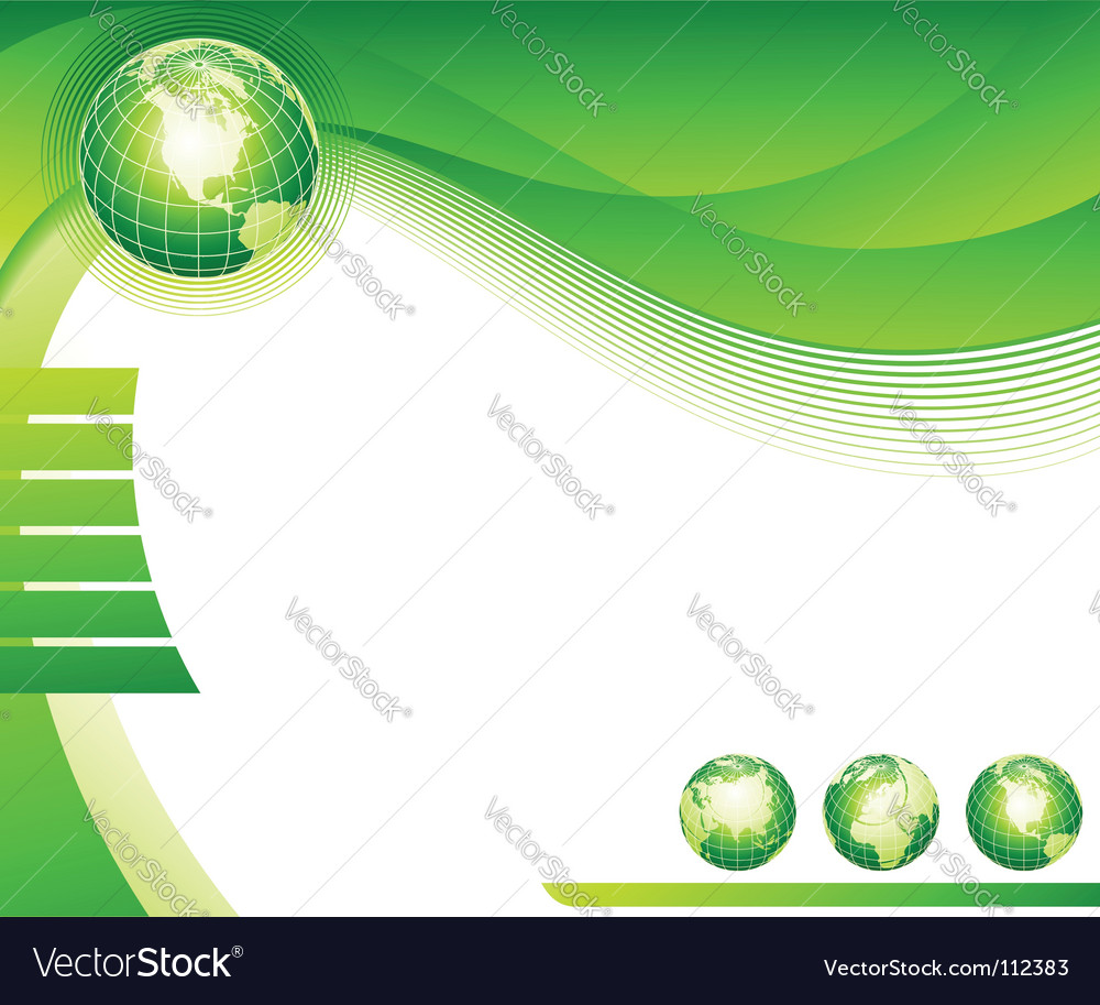 Abstract background with globes vector | Price: 1 Credit (USD $1)