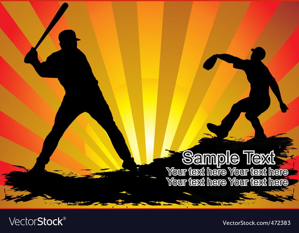 Baseball players vector | Price: 1 Credit (USD $1)