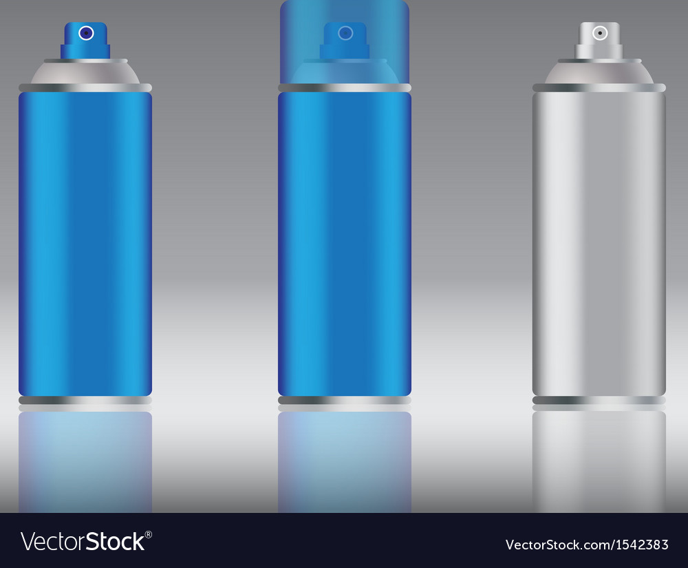 Blue spray can vector | Price: 1 Credit (USD $1)