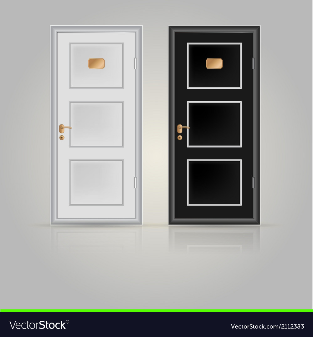 Closed doors vector | Price: 1 Credit (USD $1)