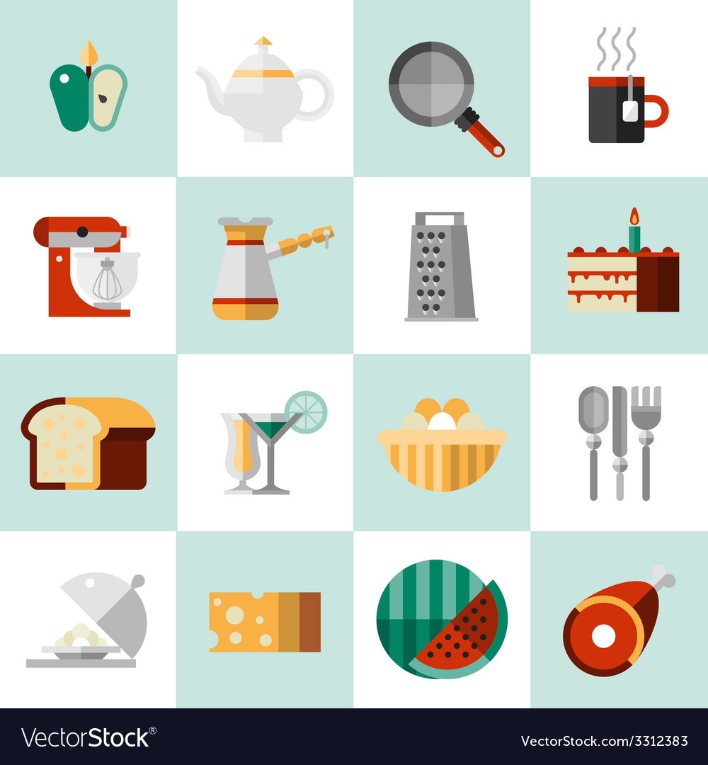 Cooking food icons vector | Price: 1 Credit (USD $1)