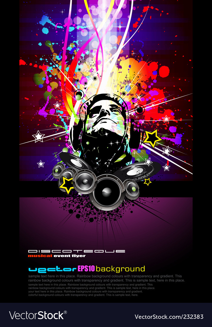 Dj disco flyer vector | Price: 3 Credit (USD $3)