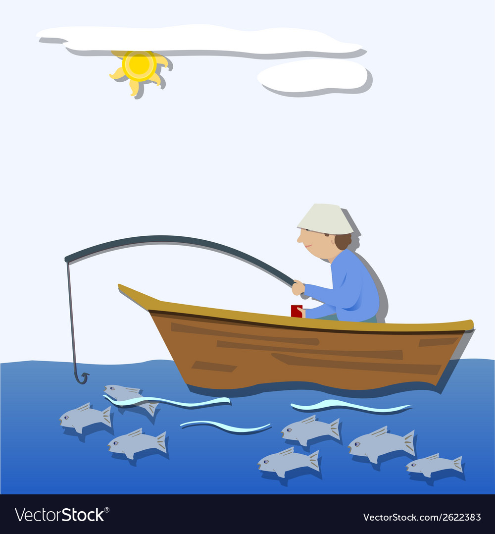 The fisherman vector | Price: 1 Credit (USD $1)