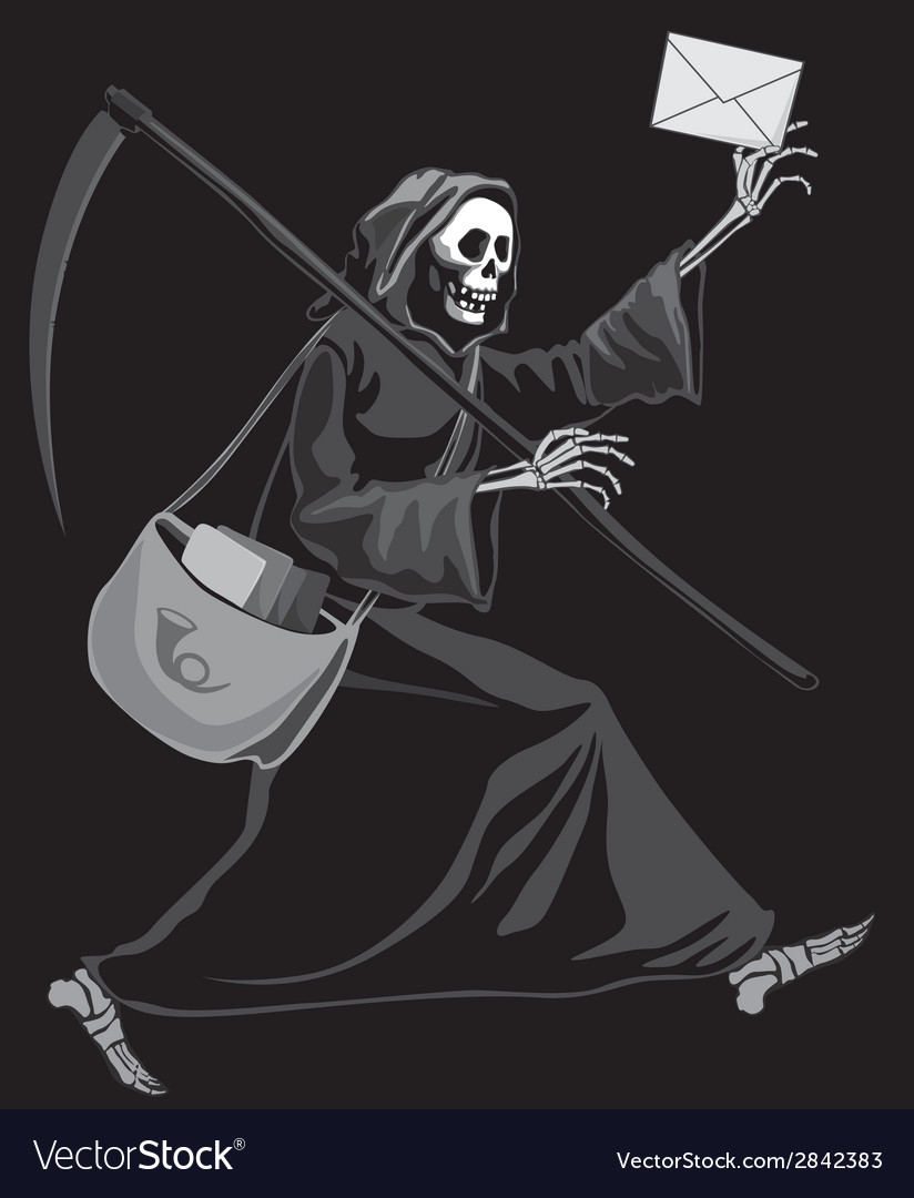 Grim reaper postman vector | Price: 1 Credit (USD $1)
