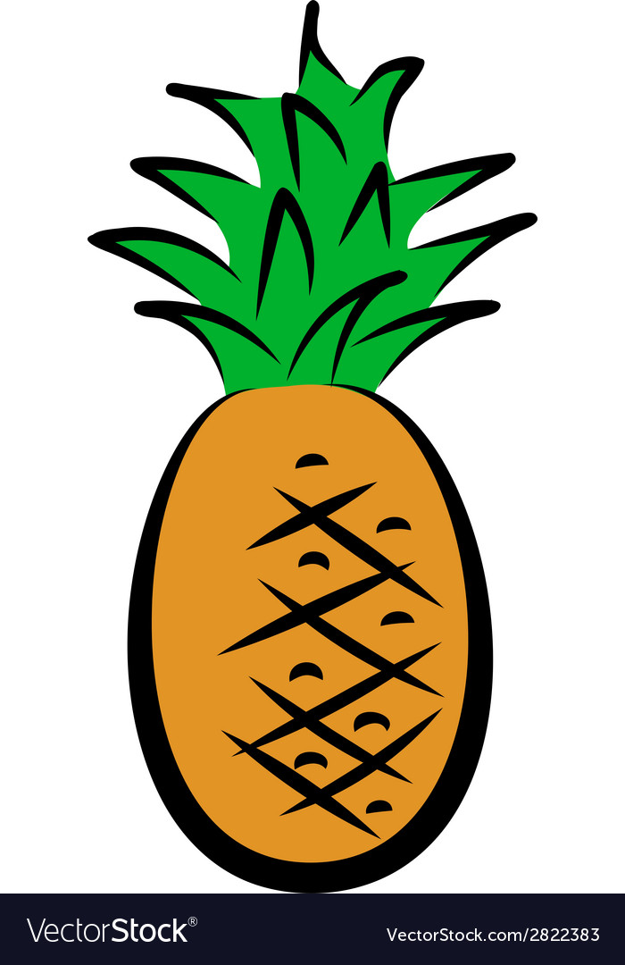 Icon of pineapple vector | Price: 1 Credit (USD $1)