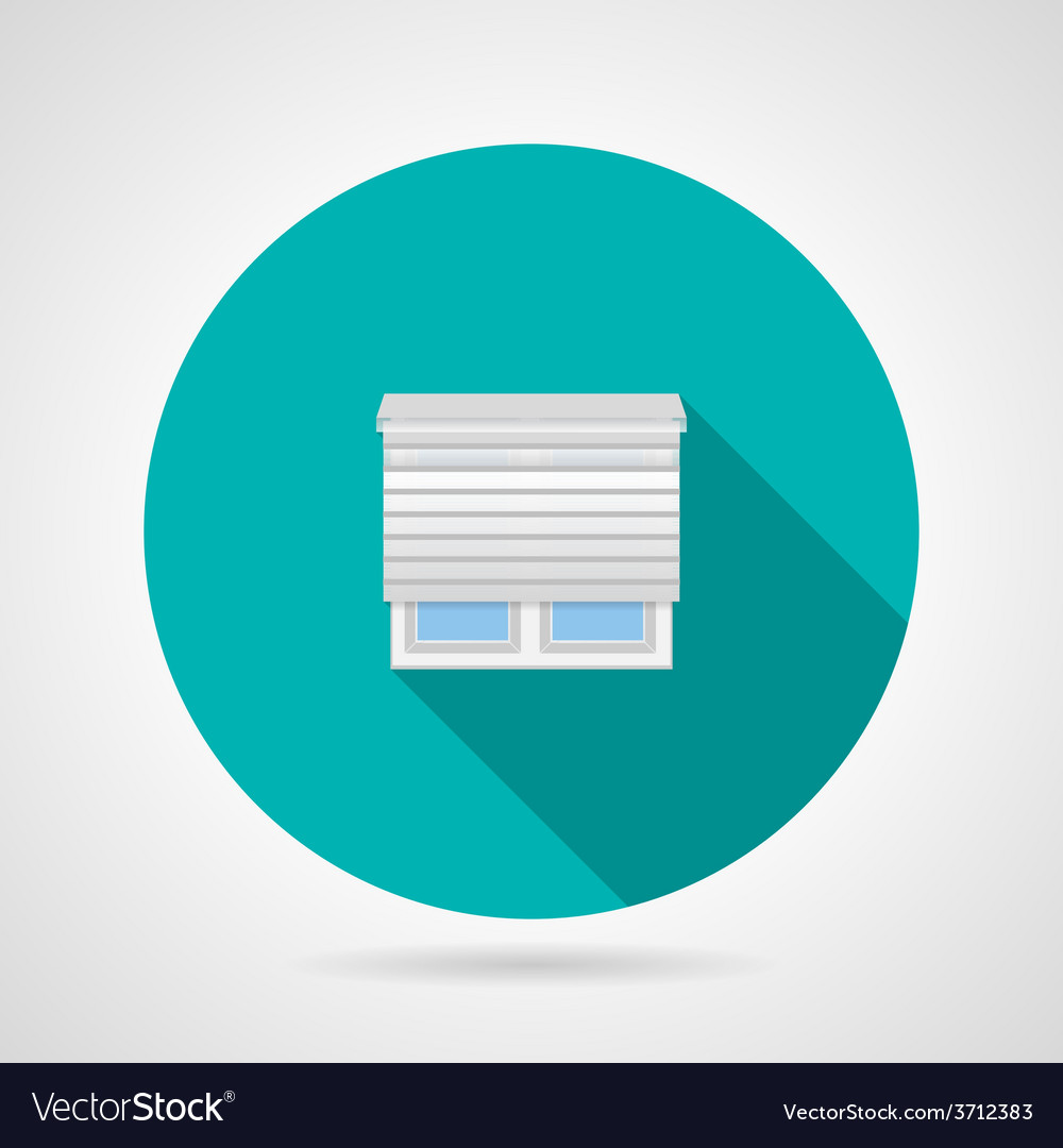 Jalousie window flat icon vector | Price: 1 Credit (USD $1)