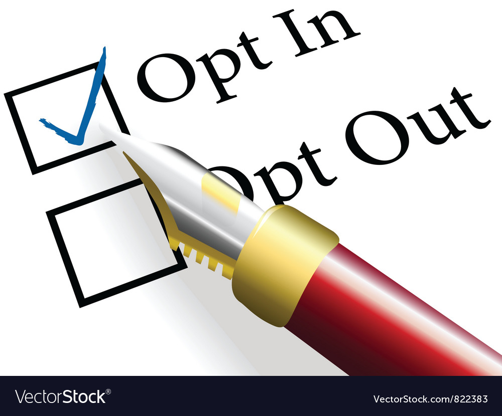 Opt in choice option vector | Price: 1 Credit (USD $1)