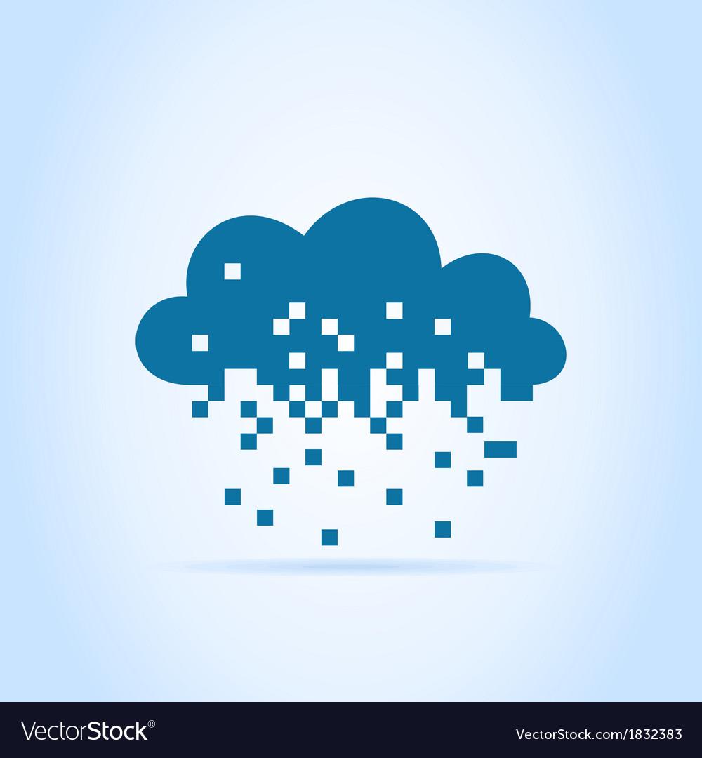 Pixel a cloud vector | Price: 1 Credit (USD $1)