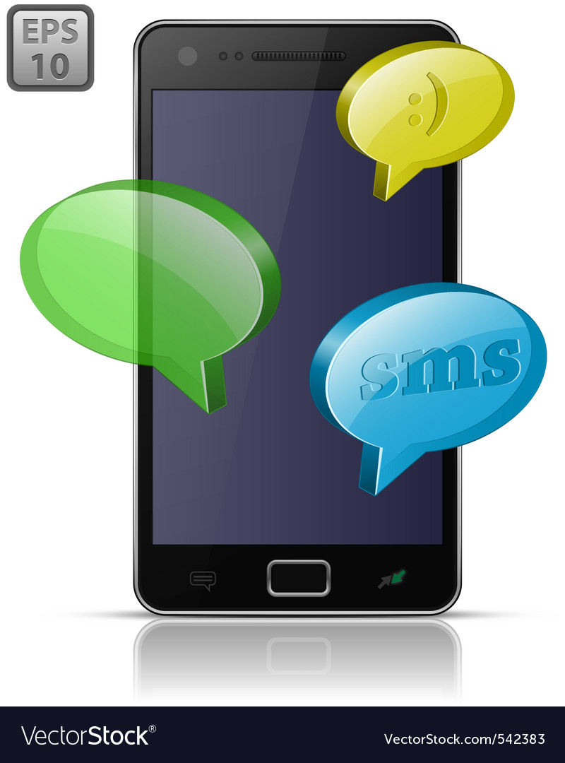 Sending and receiving sms messages vector | Price: 1 Credit (USD $1)