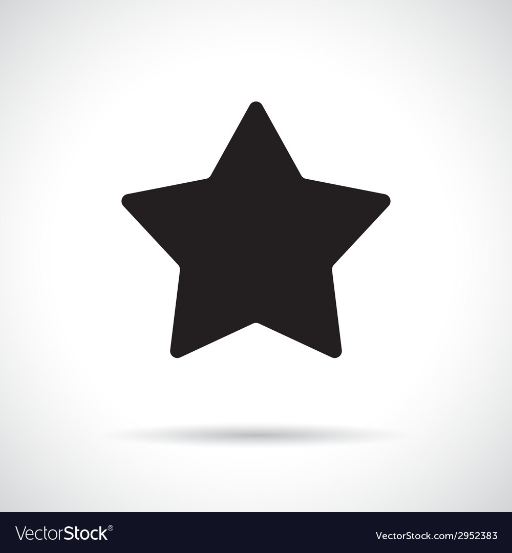 Star symbol with shadow vector   Price: 1 Credit (USD $1)