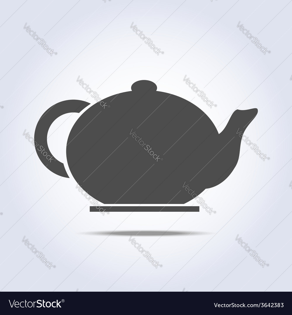 Teapot icon in gray colors vector | Price: 1 Credit (USD $1)