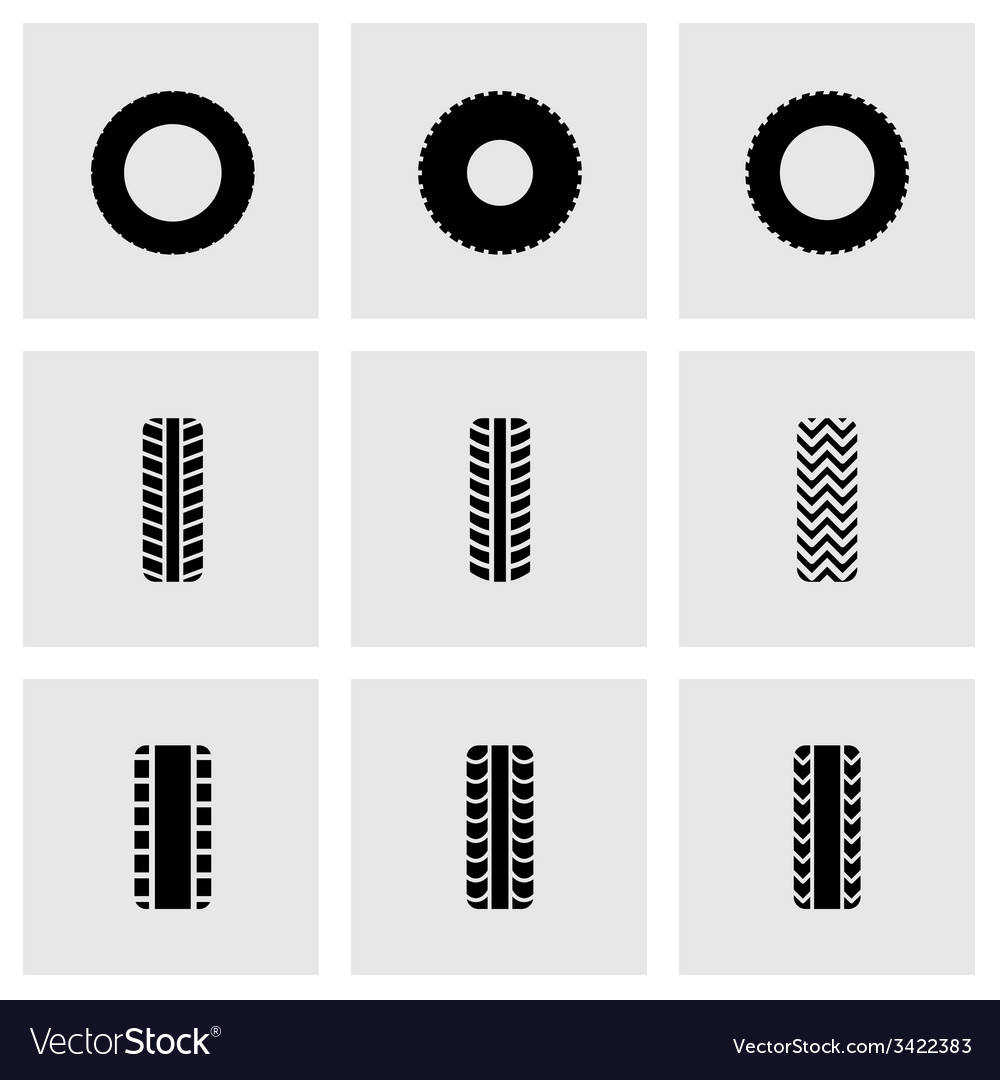 Tire icon set vector | Price: 1 Credit (USD $1)