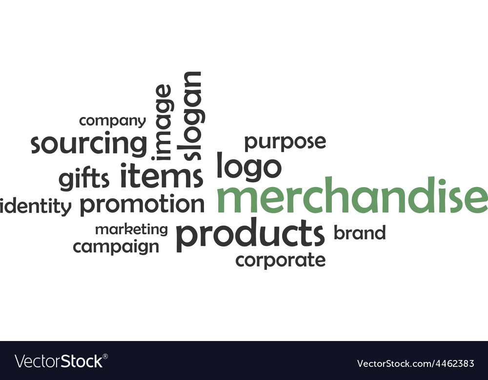 Word cloud merchandise vector | Price: 1 Credit (USD $1)