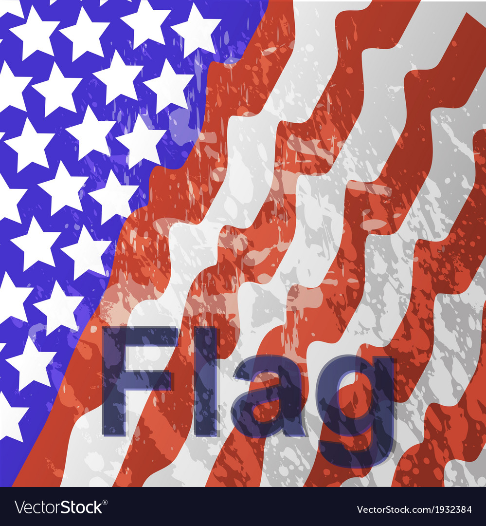 - usa flag in white background vector | Price: 1 Credit (USD $1)