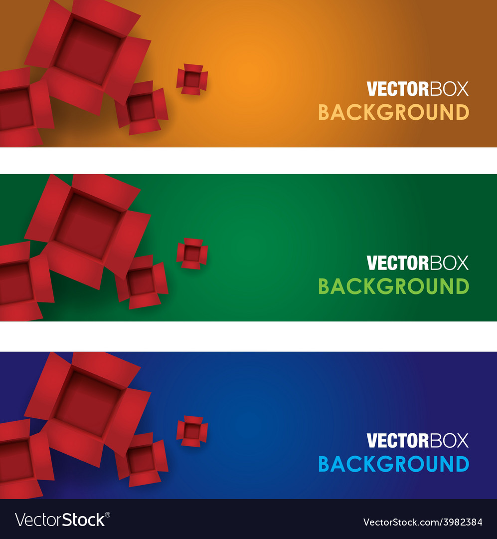 Box banners vector | Price: 1 Credit (USD $1)