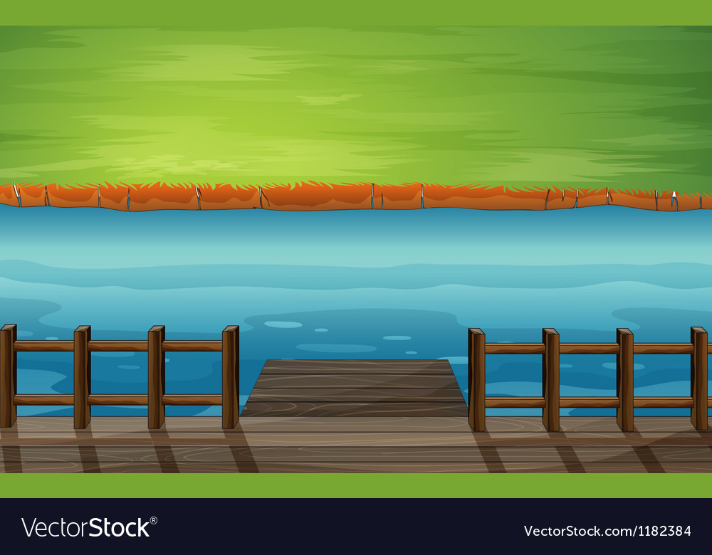 Cartoon river dock vector | Price: 1 Credit (USD $1)