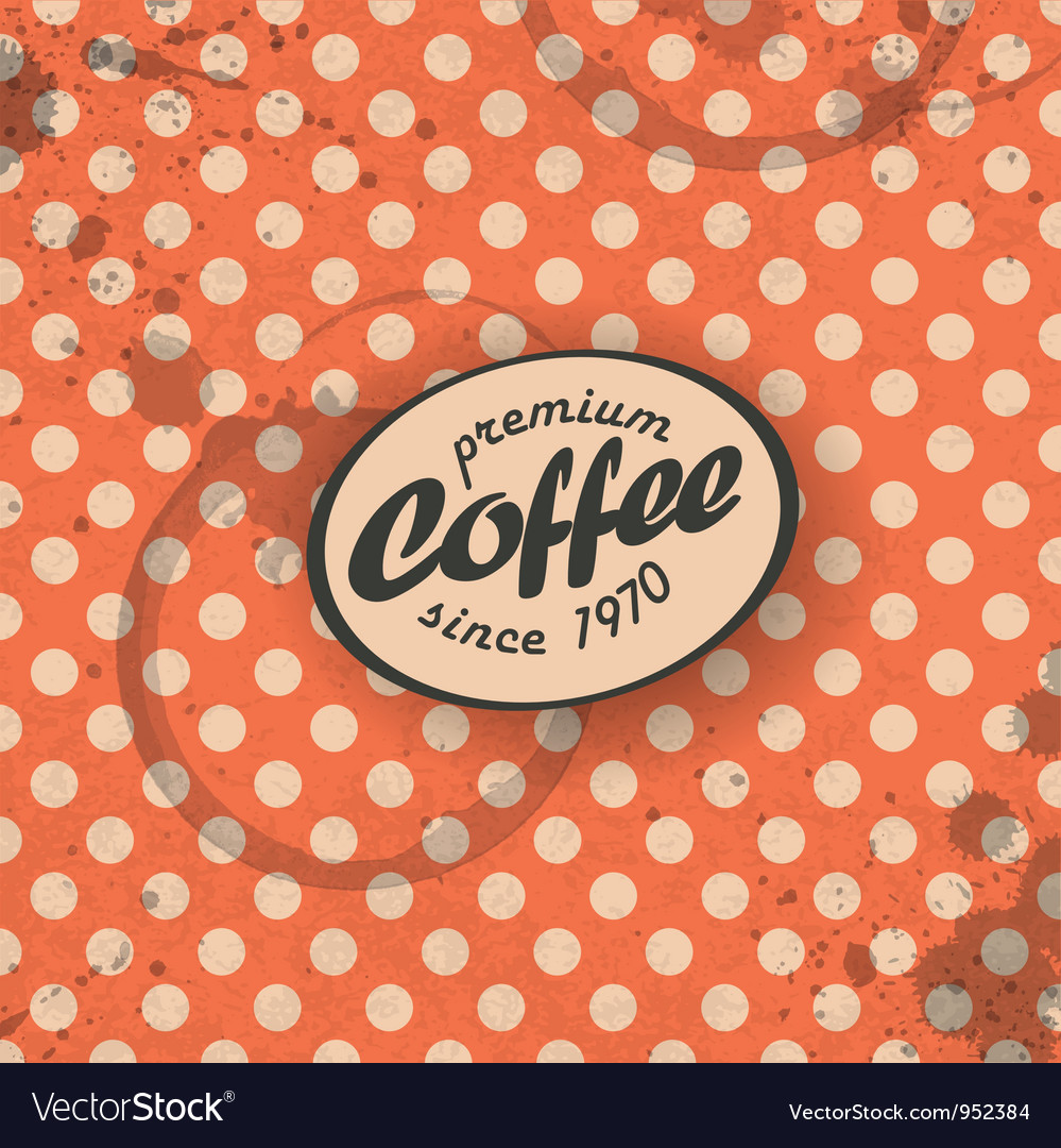 Coffee themed retro background vector | Price: 1 Credit (USD $1)