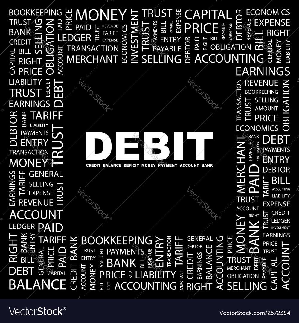 Debit vector | Price: 1 Credit (USD $1)