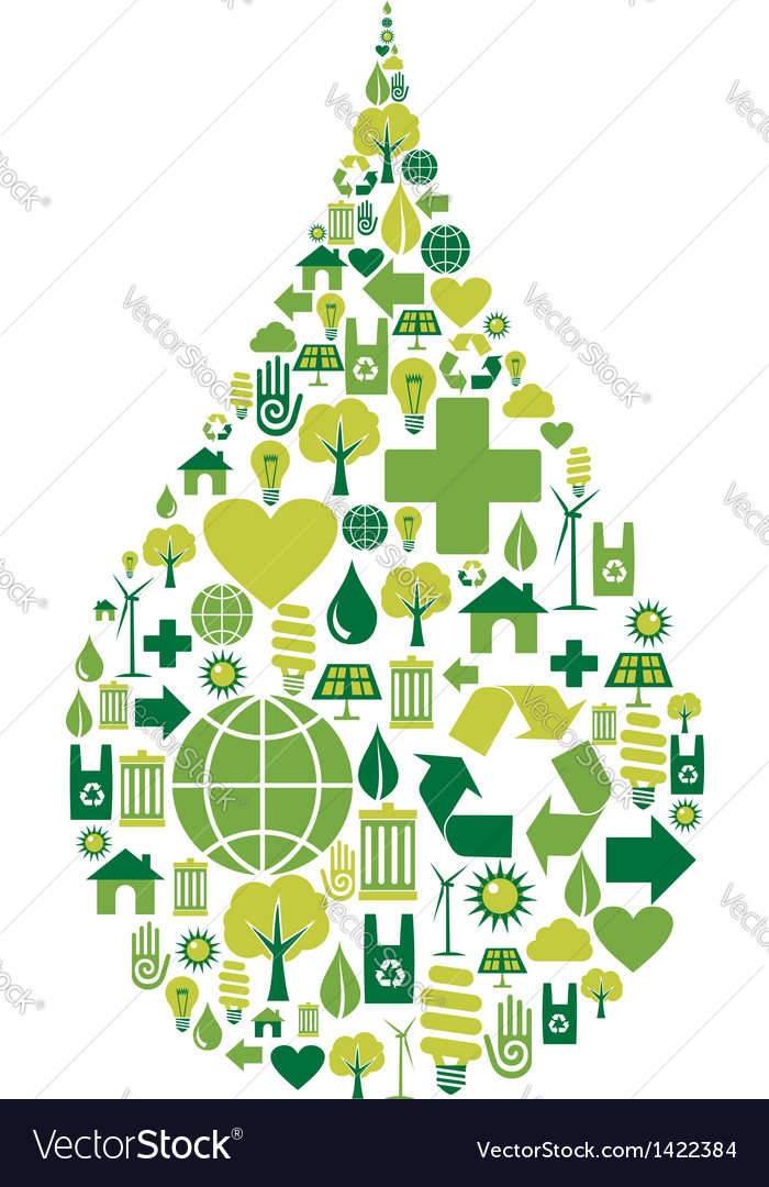 Drop symbol environmental icons vector | Price: 1 Credit (USD $1)