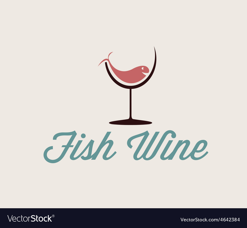 Fish in wineglass vector | Price: 1 Credit (USD $1)