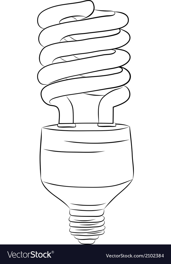 Hand-drawn lightbulb vector | Price: 1 Credit (USD $1)