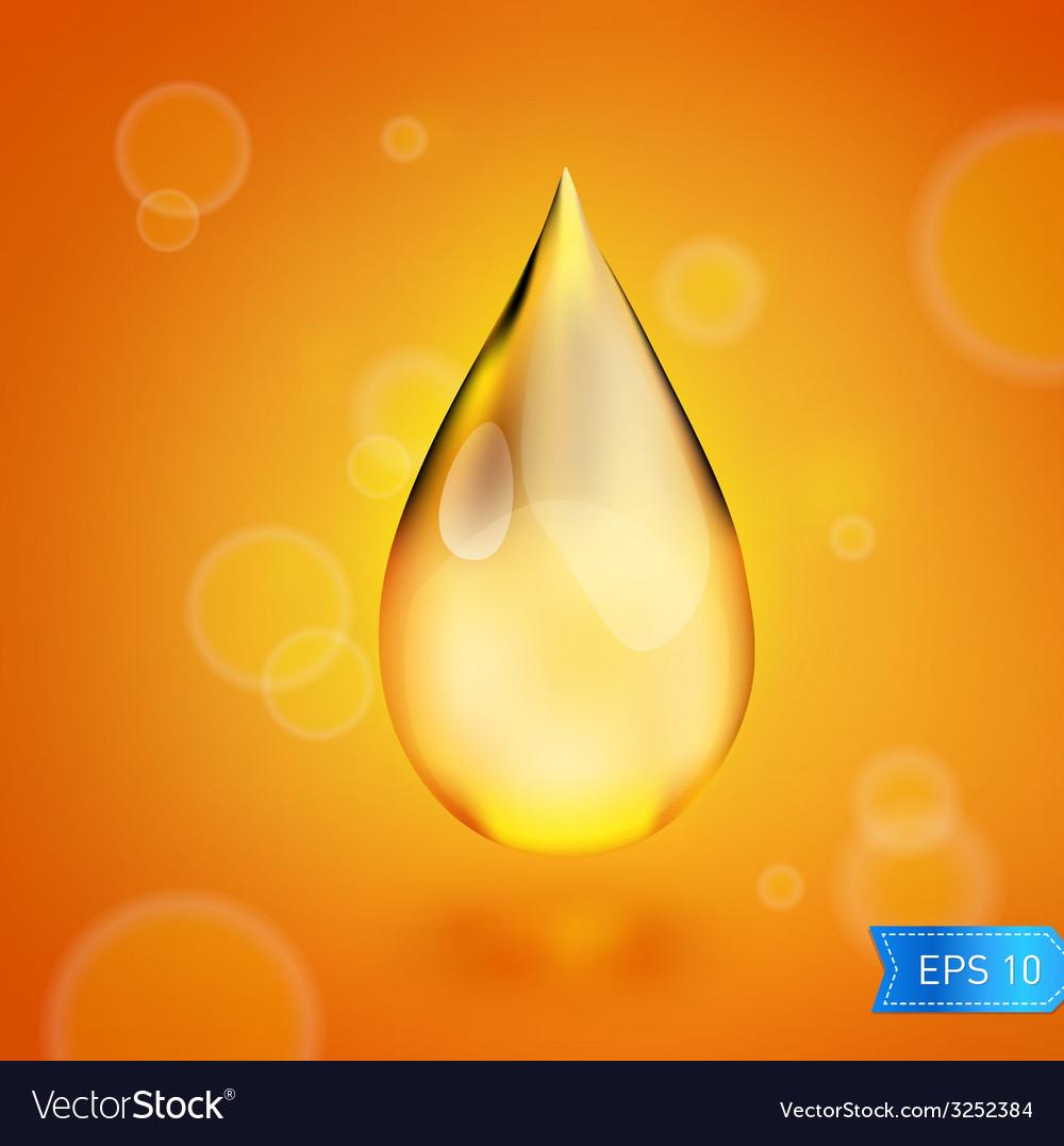 Oil drop icon vector | Price: 1 Credit (USD $1)