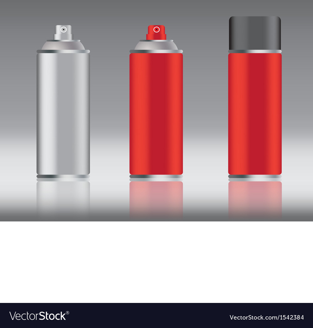 Red spray can vector | Price: 1 Credit (USD $1)