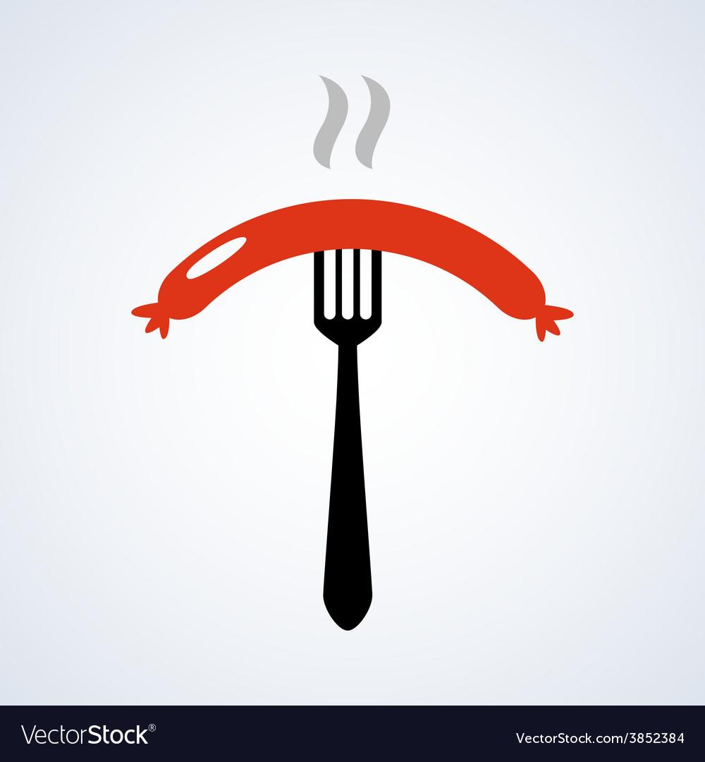 Sausage icon vector | Price: 1 Credit (USD $1)