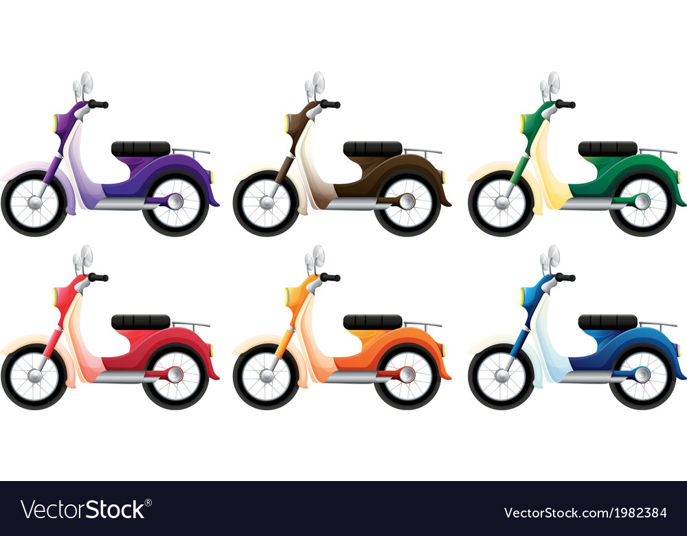 Set of scooters vector