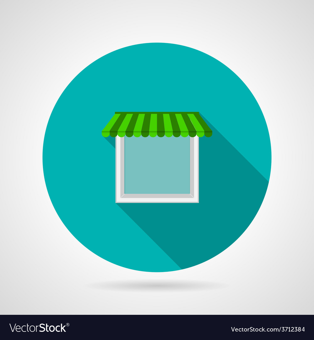 Single window canopy flat icon vector | Price: 1 Credit (USD $1)