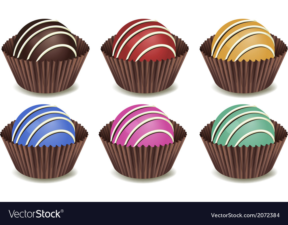 Sweet chocolate candies vector   Price: 1 Credit (USD $1)