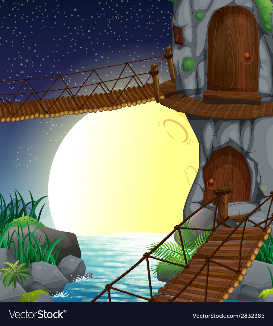 A beautiful scenery at the forest vector   Price: 3 Credit (USD $3)