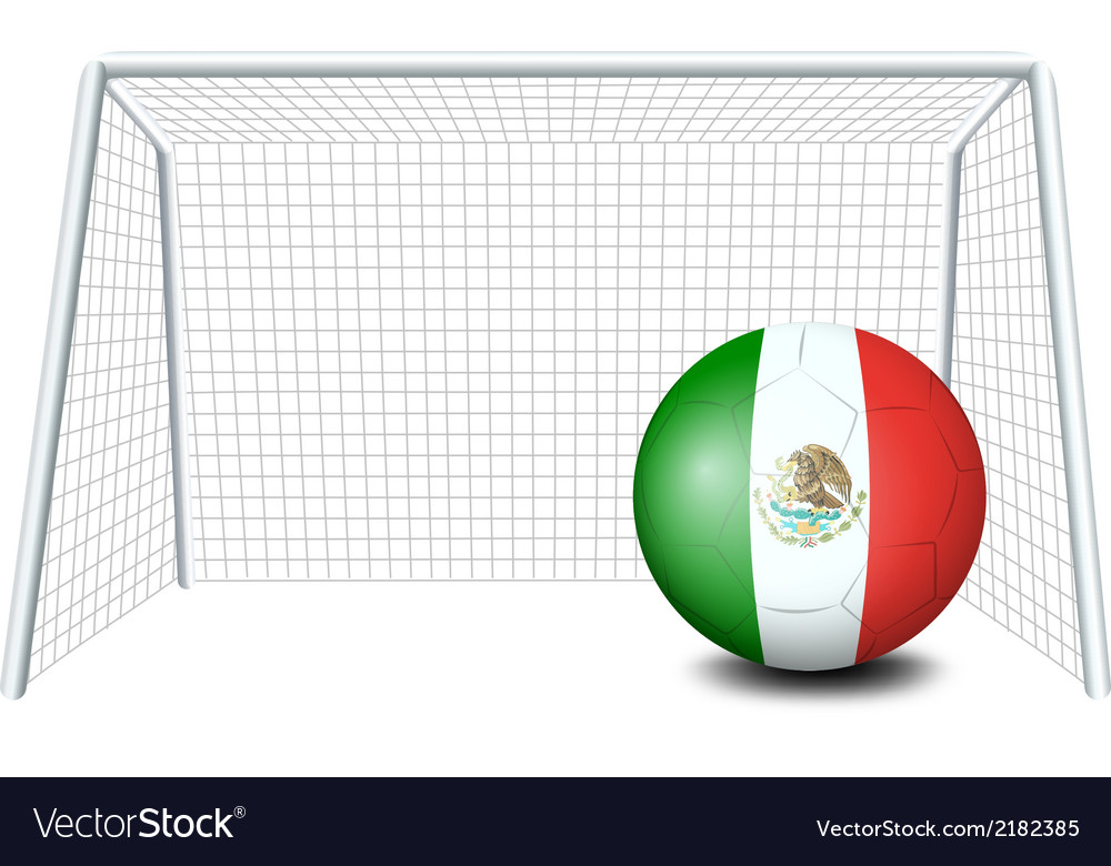 A soccer ball with the flag of mexico vector | Price: 1 Credit (USD $1)