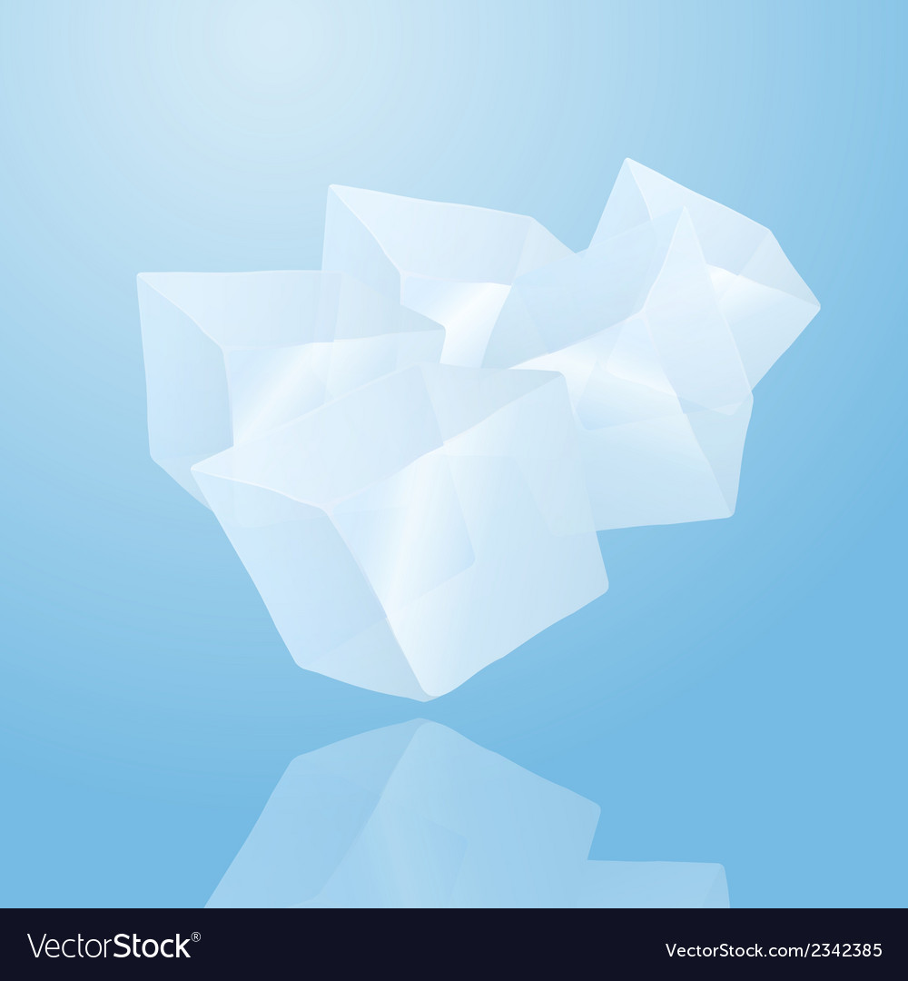 Five ice cubes vector | Price: 1 Credit (USD $1)