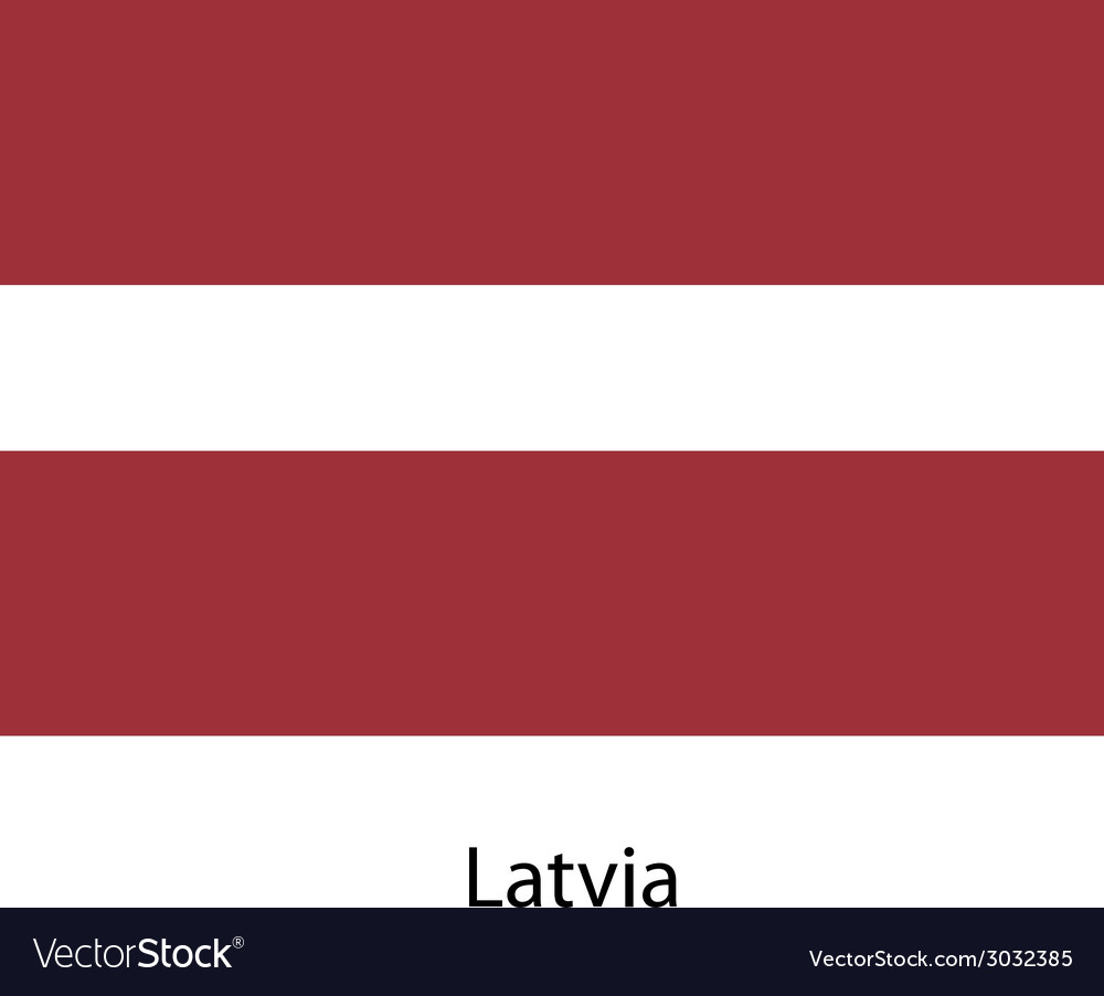 Flag of the country latvia vector | Price: 1 Credit (USD $1)