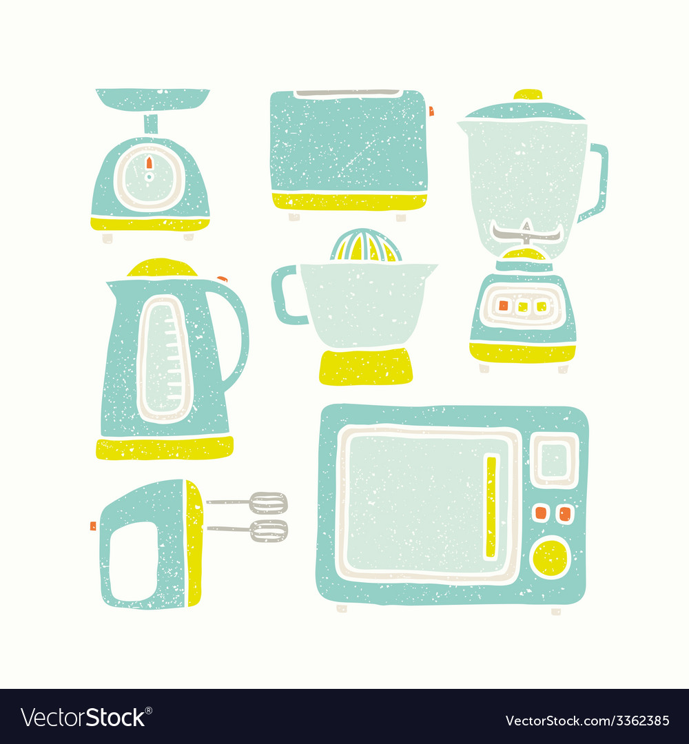 Kitchen appliances vector | Price: 1 Credit (USD $1)