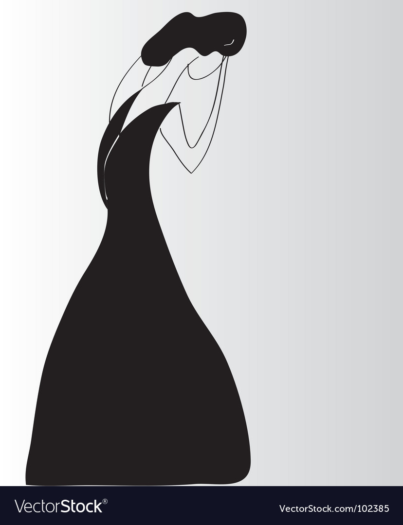 Lady crying vector | Price: 1 Credit (USD $1)