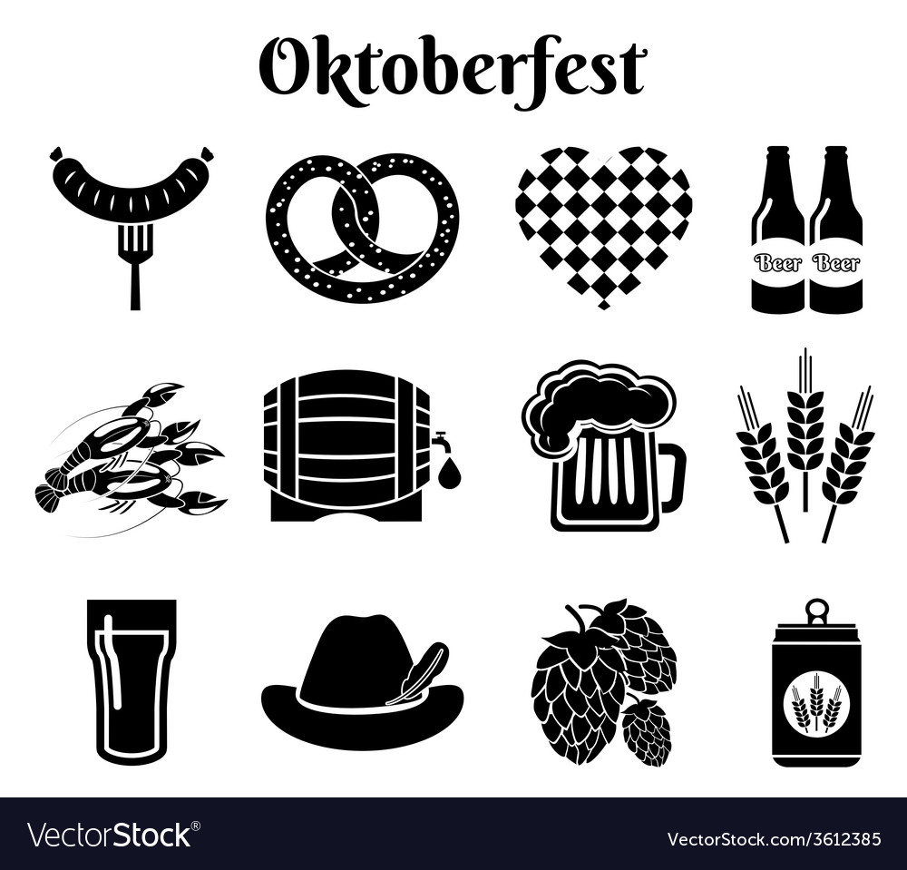 Oktoberfest icons vector | Price: 1 Credit (USD $1)