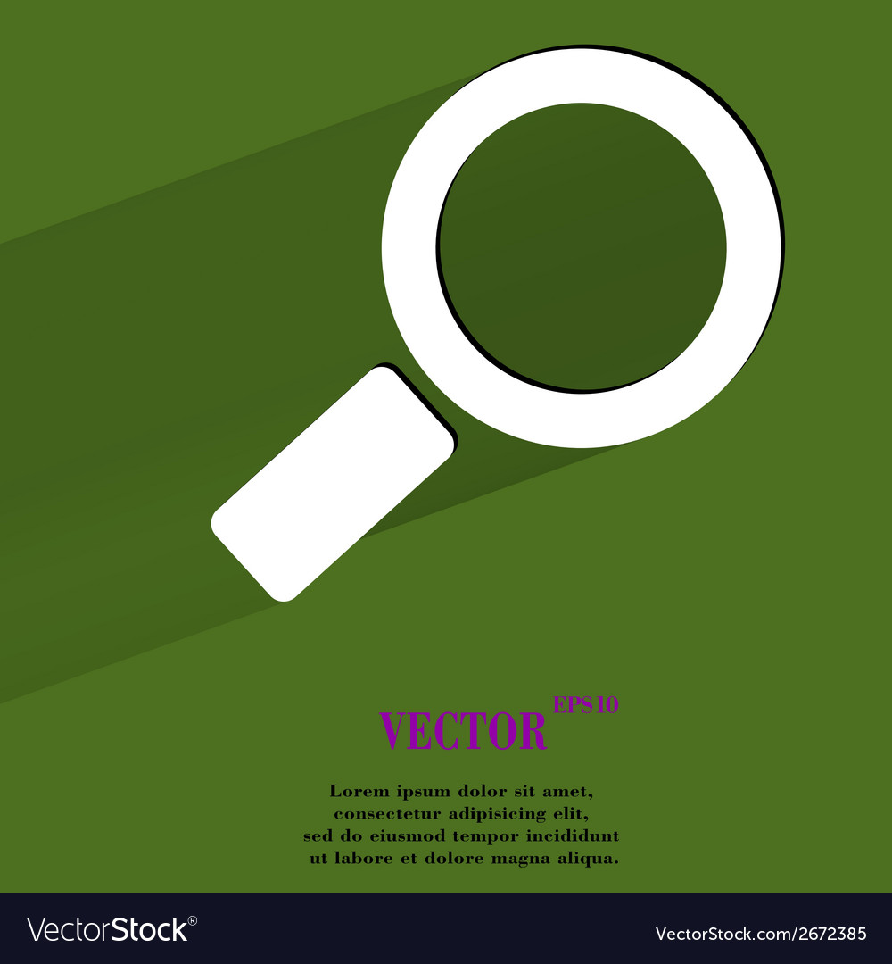 Search magnifier flat modern web button with long vector | Price: 1 Credit (USD $1)