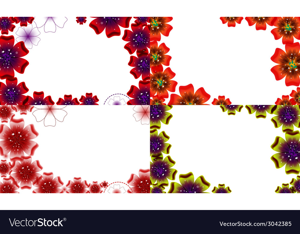 Set of spring background for the design flowers vector   Price: 1 Credit (USD $1)