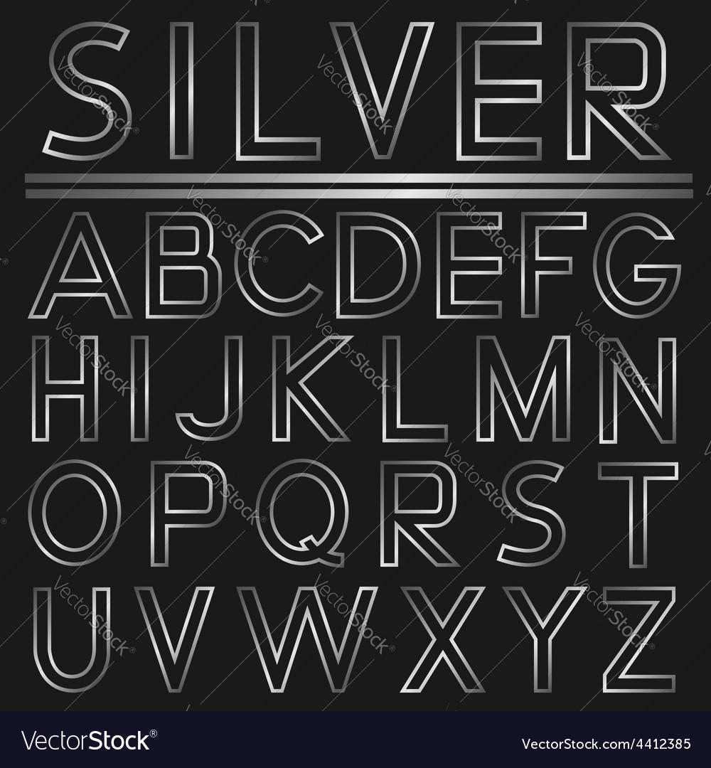 Silver alphabet vector | Price: 1 Credit (USD $1)