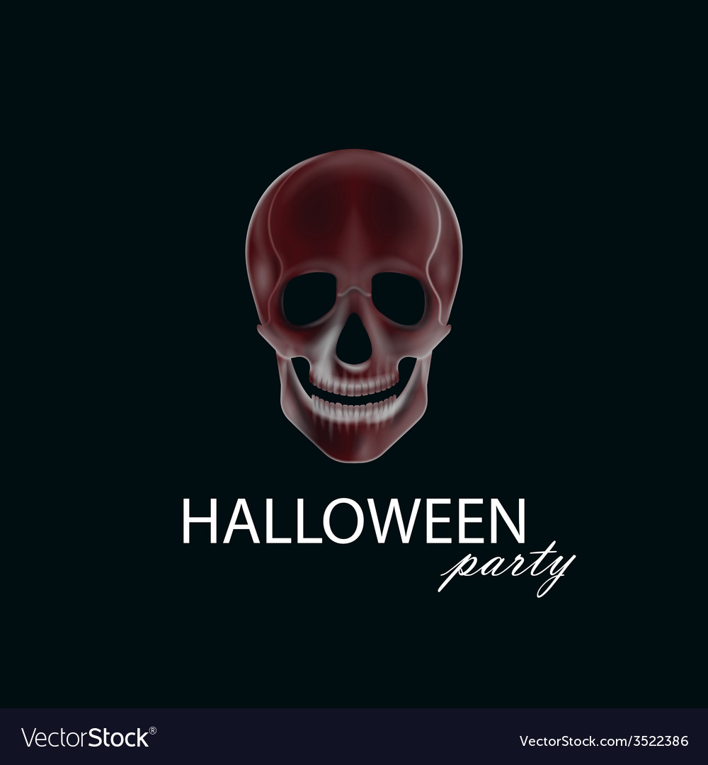 A human skull halloween party poster flyer or vector | Price: 1 Credit (USD $1)