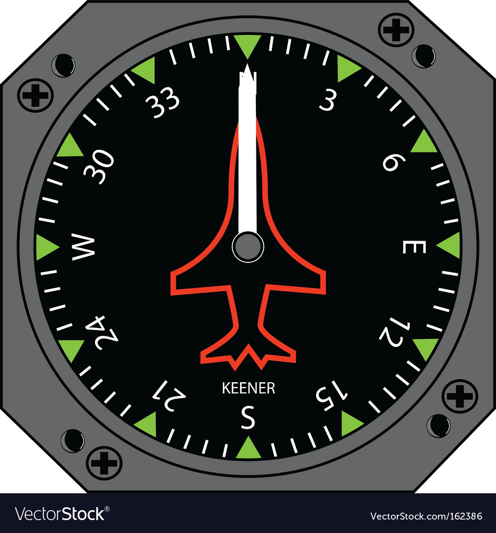Airplane compass vector | Price: 1 Credit (USD $1)