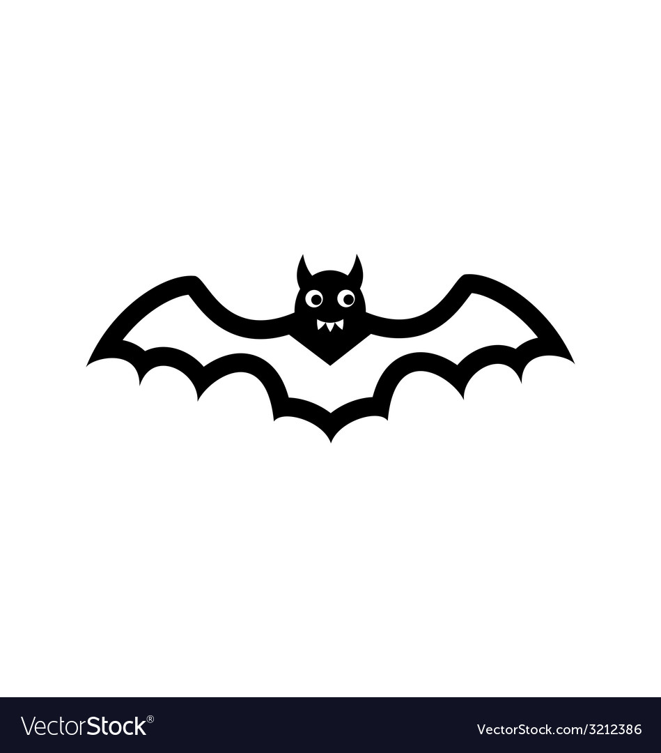 Bat icon isolated on white background vector | Price: 1 Credit (USD $1)
