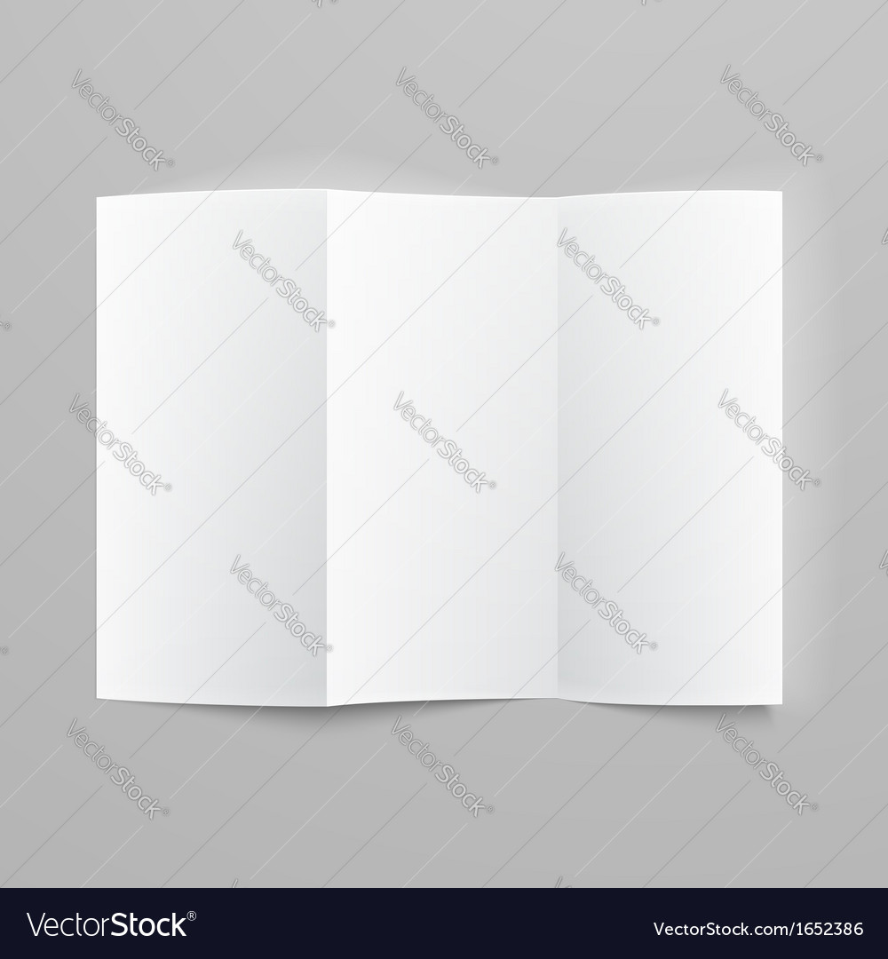 Blank trifold paper z-folded brochure vector | Price: 1 Credit (USD $1)