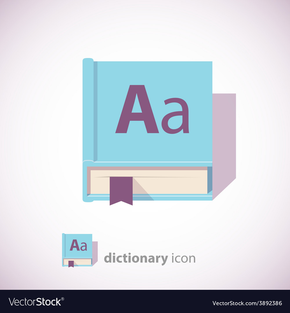 Blue dictionary book icon vector | Price: 1 Credit (USD $1)