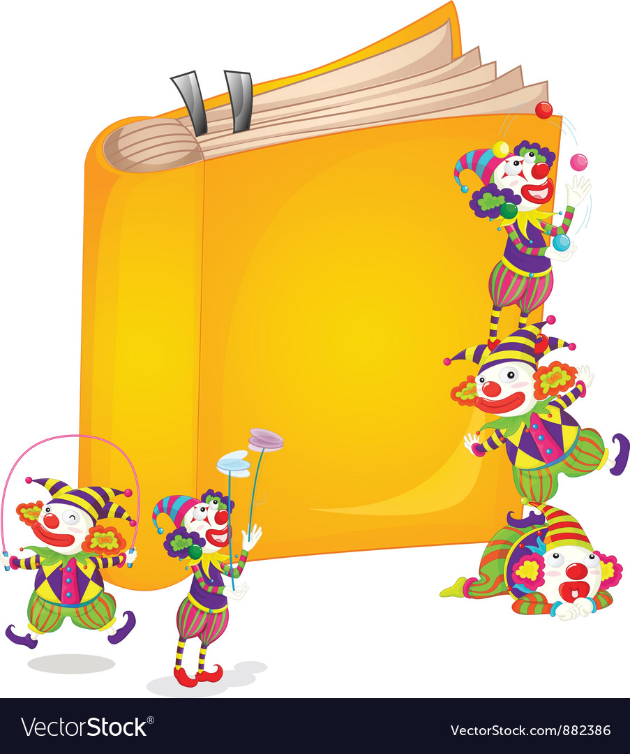 Clowns on book vector | Price: 5 Credit (USD $5)