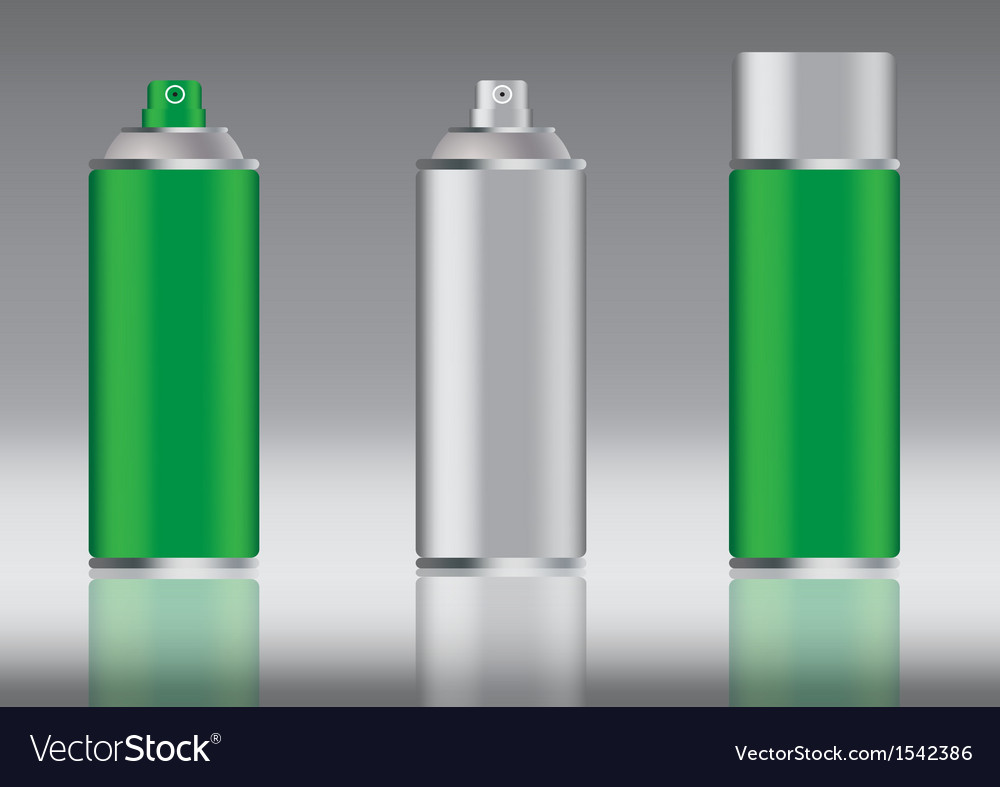 Green spray can vector | Price: 1 Credit (USD $1)
