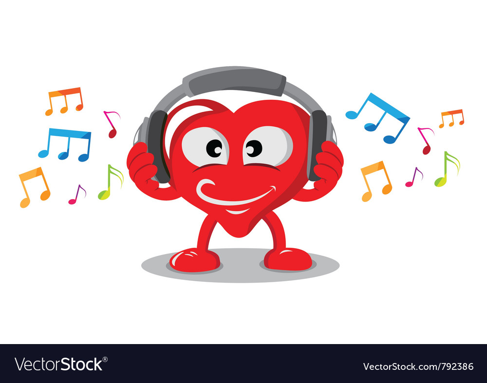 Love music vector | Price: 1 Credit (USD $1)